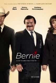 Bernie....a really good movie!  In small-town Texas, the local mortician strikes up a friendship with a wealthy widow, though when he kills her, he goes to great lengths to create the illusion that she's alive.