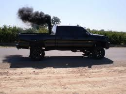 I love big trucks that blow black smoke!
