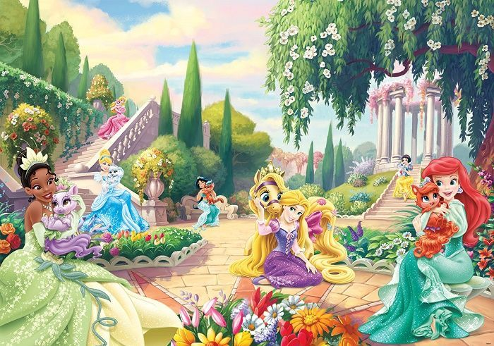 Large size wallpaper mural for girl's bedroom. Palace pets Disney wall…