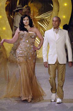 Plus Model Johanna Dray on the runway for John Galliano 2006.