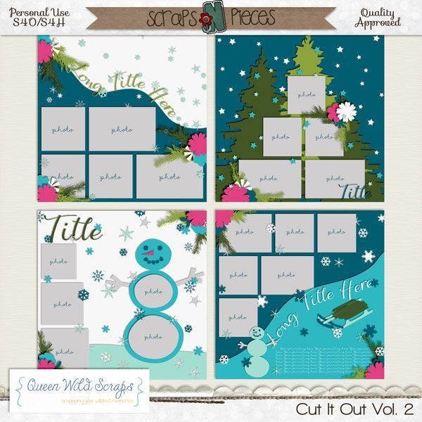 Cut It Out Vol. 2 template by Queen Wild Scraps available here: http://bit.ly/QWS_CIO2snp #templates #winter #queenwildscraps #digiscrap #digitalscrapbooking