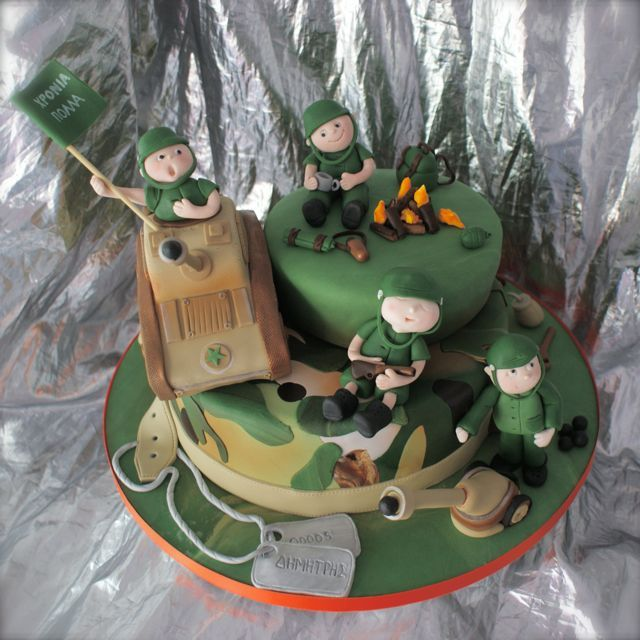 Army scene cake...for soft air lovers
