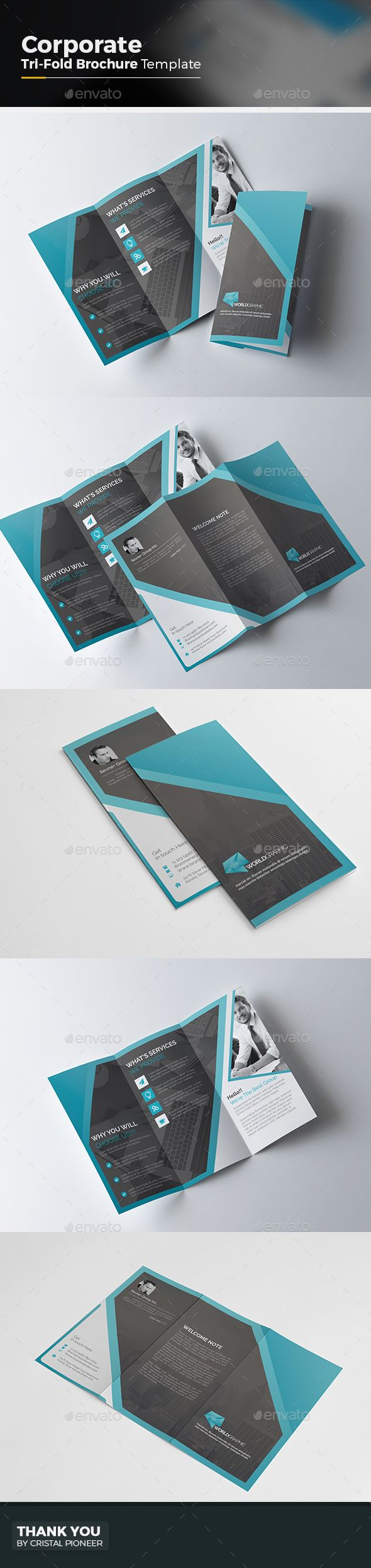Tri fold Brochure Template Vector EPS, AI. Download here: http://graphicriver.net/item/tri-fold-brochure/15158671?ref=ksioks