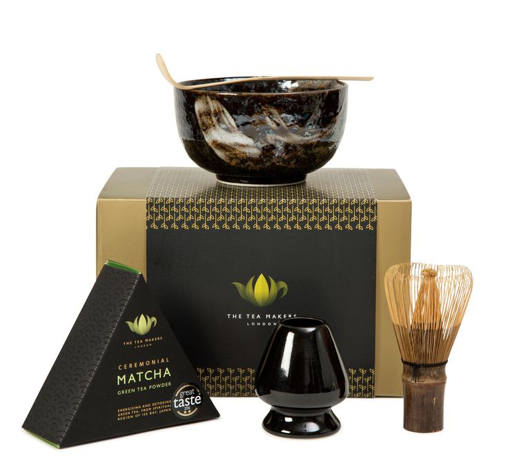 Traditional Ceremonial Japanese Matcha Gift Set  This traditional matcha set contains 40g of ceremonial grade matcha, golden bamboo whisk & spatula, matcha whisk holder and ceramic matcha bowl. The ideal present for Matcha lovers!