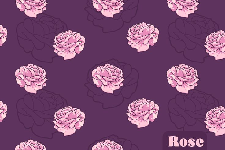 Free Rose Seamless Vector Pattern