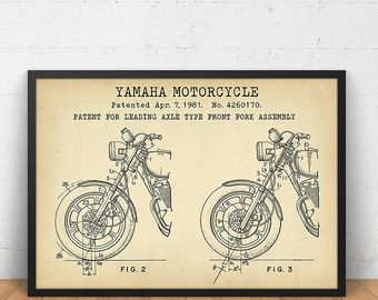Indian Motorcycle Patent 1943  Patent Print Wall Decor