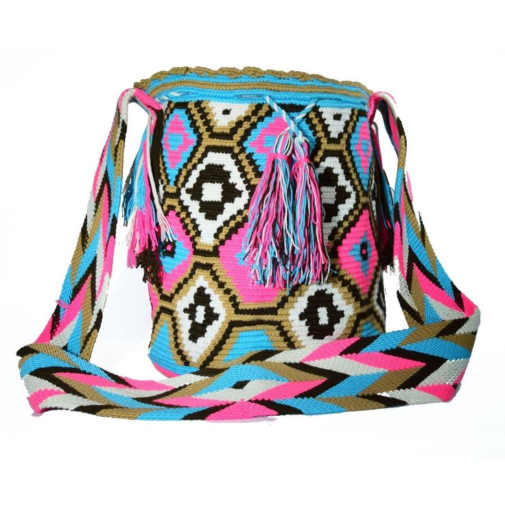 Wayuu Bag – Large Mochila – Design – 095  $85$  #wayuu #wayuumochila #wayuubag #wayuumochilabags #products #largebag #neonbag #design #handmade  https://wayuu-mochila-bags.com/shop/popular-wayuu-bags/design-large-wayuu-mochilas/neon-pink/authentic-wayuu-large-mochila-bag-100-colombian-boho-hobo-finest-handmade-095/