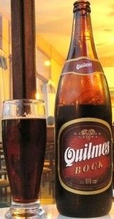 Cerveja Quilmes Bock, estilo Traditional Bock, produzida por Quinsa, Argentina. 6.3% ABV de álcool.