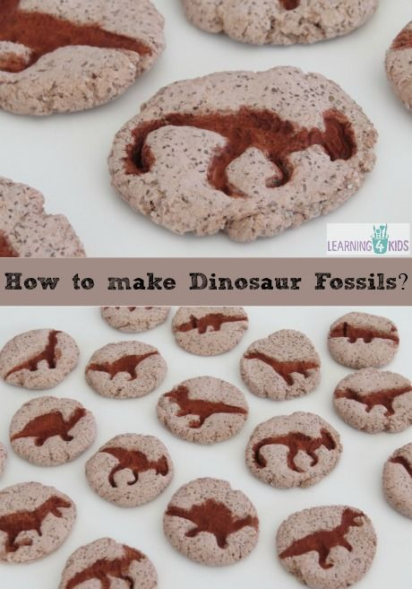 "How to Make Dinosaur ""Fossils"" with Salt Dough (from Learning 4 Kids)"