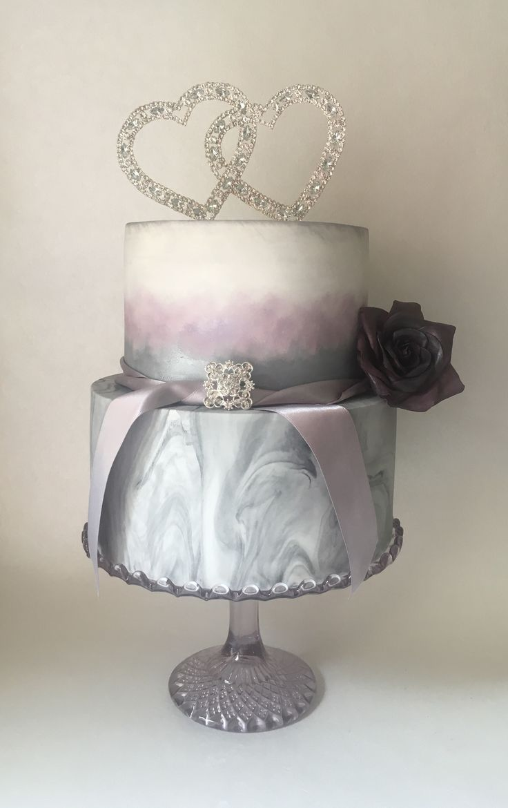 'Tempest' by The Bakeup Artist...  Like all good relationships, stormy but beautiful.  Marble wedding cake #tempest #moody #marble #grey #heather #rose #storm #elegant #romance #ontrend #classic #contemporary #style #wedding #cake #weddingcake #weddingtrend #couture #massaticino #squires  #50shades