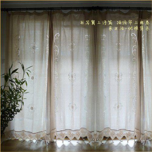 Curtains Ideas cotton curtains white : 17 Best images about Curtains on Pinterest | Cotton linen, Crochet ...