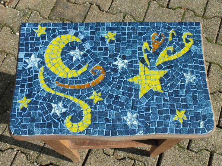 Mosaïque Table de chevet 2