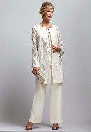 3 piece evening pant suits | Mother of the Bride Plus size Pantsuits
