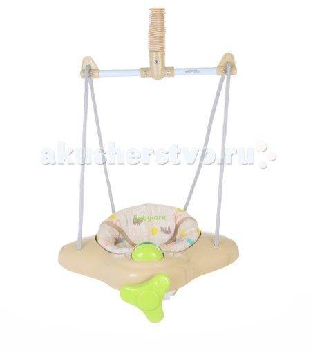 Прыгунки Baby Care Aero  Мягкий материал сидения легко моется  Легко устанавливаются, надежно крепятся и безопасны  Крепление система фонендоскоп  Прикрепляются к верхнему косяку двери  Фиксируемая пружина для использования в качестве качелей  Для детей от 6 месяцев и до 11 кг.