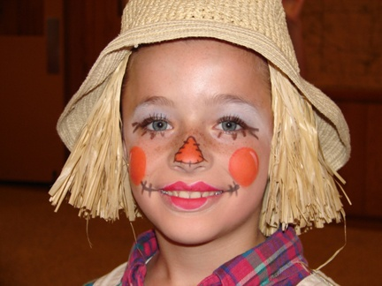 Scarecrow face paint for Halloween