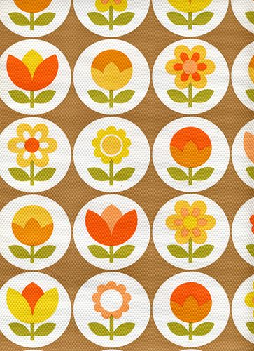 vintage flower wallpaper, this looks like the wallpaper in my old bedroom at my parents house!!!