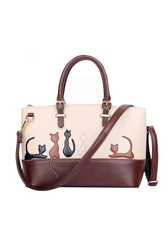 Buy Women Cat Pattern Contrast Color Handbags Shoulder Bags online at Lazada. Discount prices and promotional sale on all. Free Shipping.