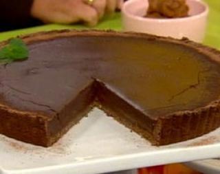 Tarta de chocolate y dulce de leche apta para celíacos
