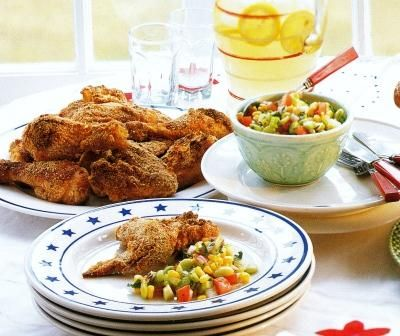 Mary Engelbreit's Oven-Fried Lemon Chicken features lemon, yogurt, and ...