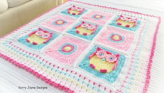 OWL BABY BLANKET Pattern   Kerry's Owl by KerryJayneDesigns