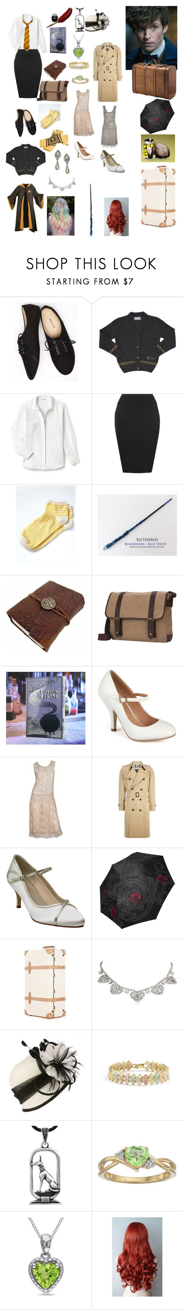 """""""Knowing Newt Scamander in Hogwarts and going with him to help him white his creatures"""" by ashley-schork ❤ liked on Polyvore featuring Wet Seal, Lacoste, WearAll, Banana Republic, Goodhope Bags, Journee Collection, Burberry, Rainbow Club, Globe-Trotter and Nina"""