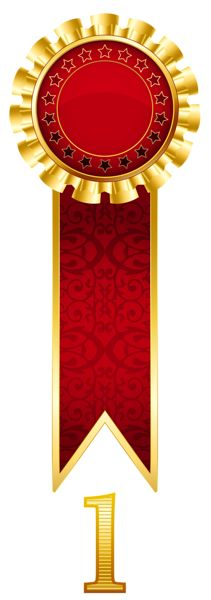 Rosette Gold Prize Transparent PNG Clipart