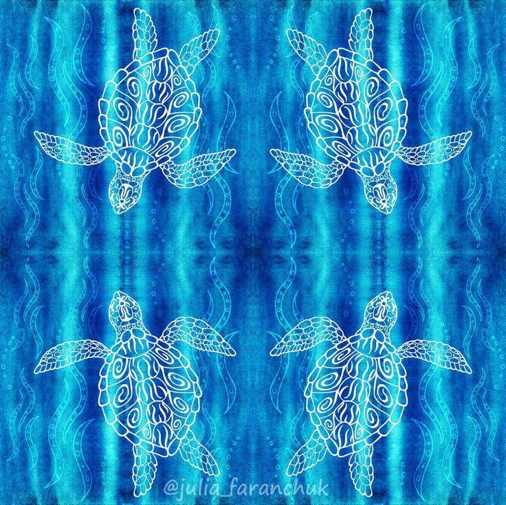 """Для челленджа от @spoonflower """"Spirit Animals"""". Четвертый этап - водные животные. У меня - #черепаха. . Это последний этап этого челленджа и уже начался новый - Геометрия. . . #spiritanimals #рисунок #иллюстрация #instaart #dailyart #artstagram #draw #spoonflower #animals #животные #природа #nature #fabricdesigner #patterndesign #patternlove #printandpattern #artanddesign #patternmaker #textiledesign #bucketfeet @bucketfeet #topcreator #AquaticAnimals #sealife #ocean #oceanlife #marine…"""