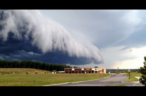 Amazing Ominous Upcoming Storm Cloud