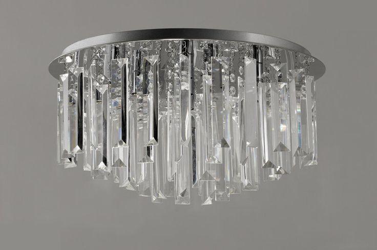 GMGE - Plafond bastones cristal Ø52cm - BUTTON-L