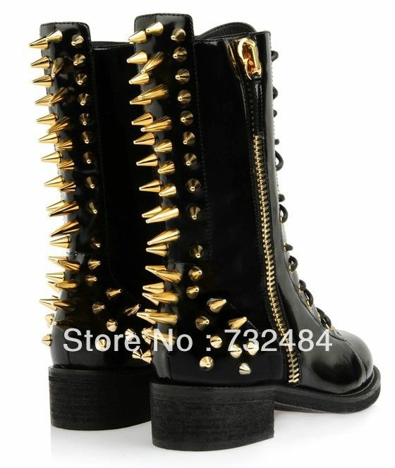 Genuine Leather Flat Boots For Ladies Fashion Studded Boots Free Shipping-in Boots from Shoes on Aliexpress.com   Alibaba Group