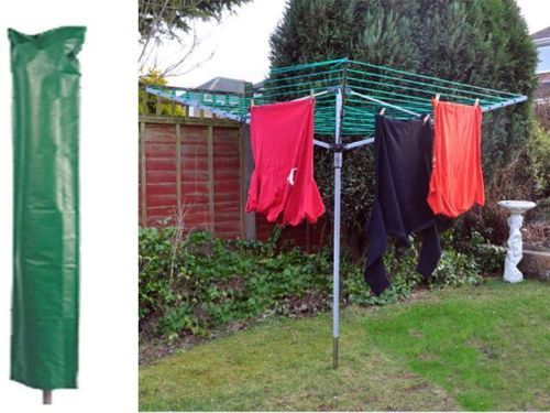 NEW-4-ARM-ROTARY-GARDEN-WASHING-LINE-CLOTHES-AIRER-DRYER-FREE-COVER