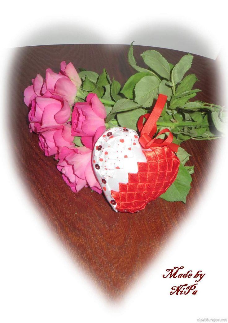 Falešný patchwork, patchwork, Patchwork without needle, Quilted Ornaments, artyčok, srdce, Valentýn, heart, Valentine