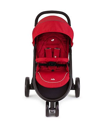 Suitable from birth, the sporty Joie Litetrax 3 Wheeler Stroller is a streamlined, easy to fold design with 5-point harness system and all round suspension. Compatible with the Joie 0+ baby car seat (sold separately).