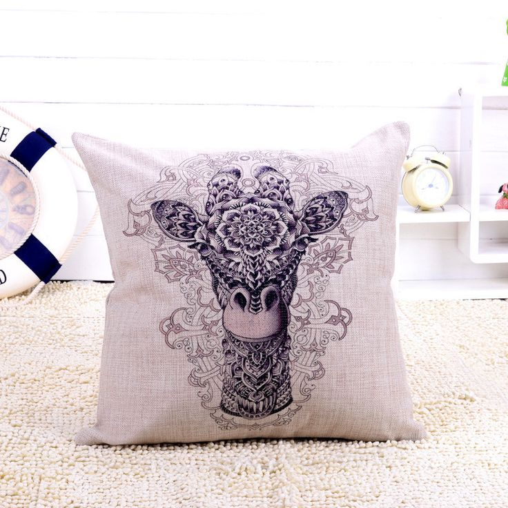 africanartonline.com - Decorative Giraffe Cushion Cover, $24.95 FREE Shipping (http://africanartonline.com/decorative-giraffe-cushion-cover/)
