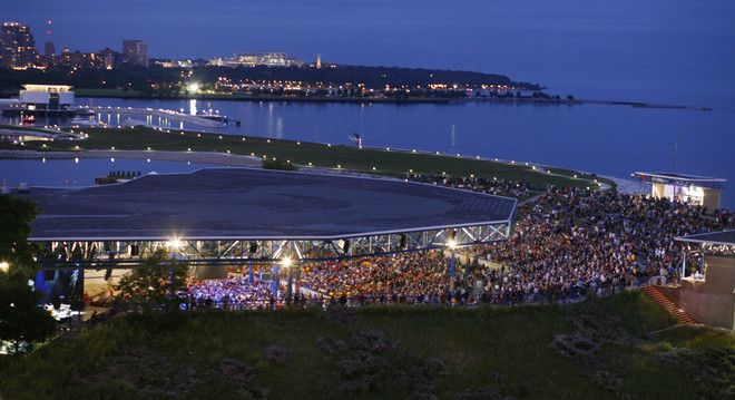milwaukee wisconsin during autumn | Amphitheater has spectacular views of Lake Michigan and the Milwaukee ...