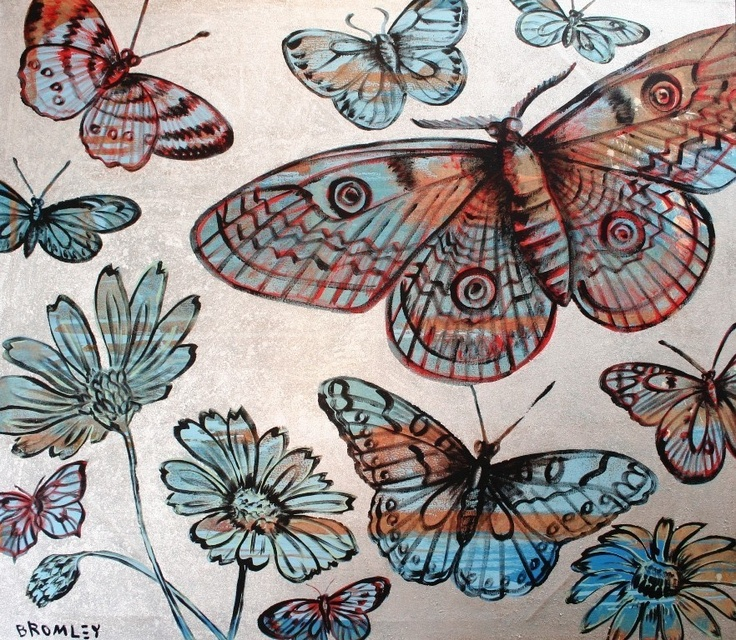 Blue Butterflies 2 - David Bromley