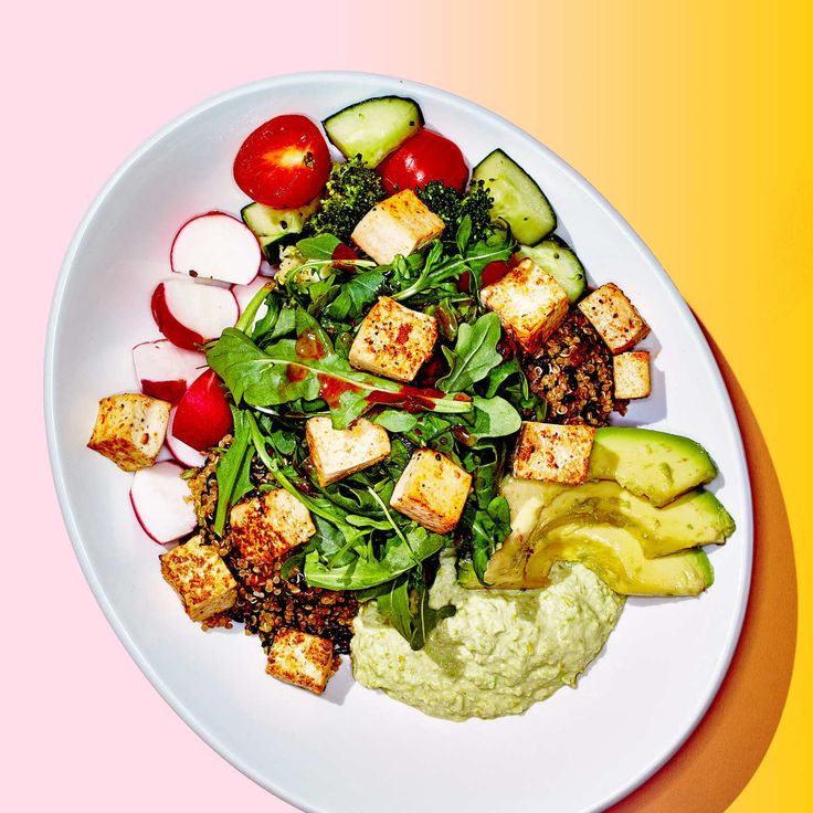 lyfe kitchen's quinoa crunch bowl with garlic-lime tofu, $11