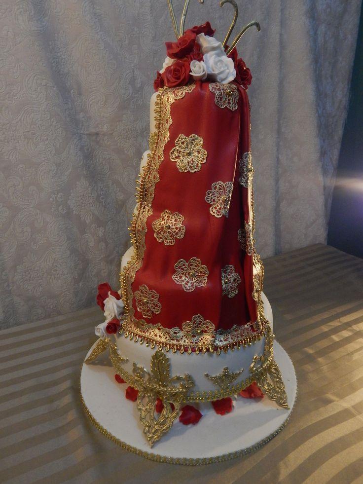 Indian Desi wedding cake. www.exclusivecakes.net