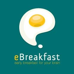 eBreakfast early breakfast for your brain. Using symbols and icons, the logo desingers attempt to establish an association between the brand name and the image.