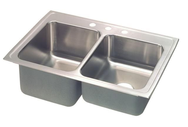 10 Pictures That Will Change Your Mind About Stainless Steel Sinks: Your BasicFranke Stainless Steel Double-Basin Sink