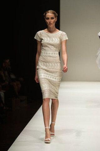 Nicolangela -Simona dress, from the runway at MSFW 2014