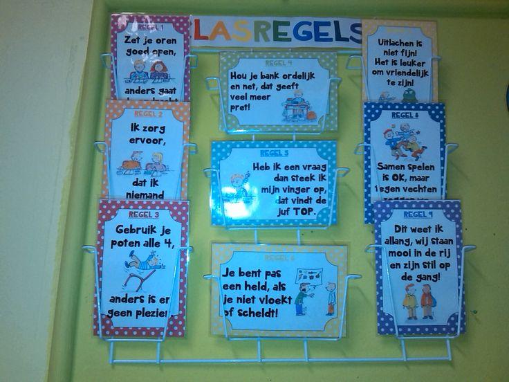 9 klasregels in rijmvorm die de kinderen goed kunnen onthouden