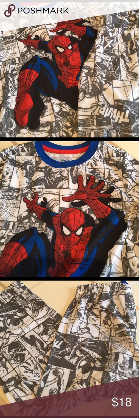 Disney Marvel pajama for boys Cute Spider-Man pajama. Washed but never worn. Disney Pajamas Pajama Sets