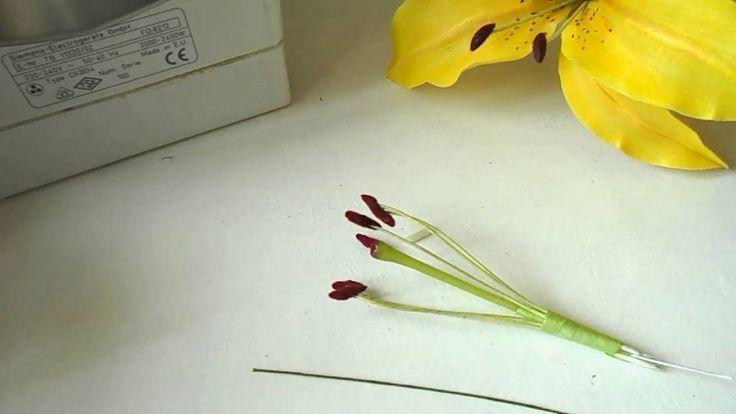 Как быстро и легко сделать Тычинки из зефирного фоамирана.Ч.1