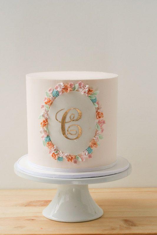 peach buttercream cake erica obrien cake design