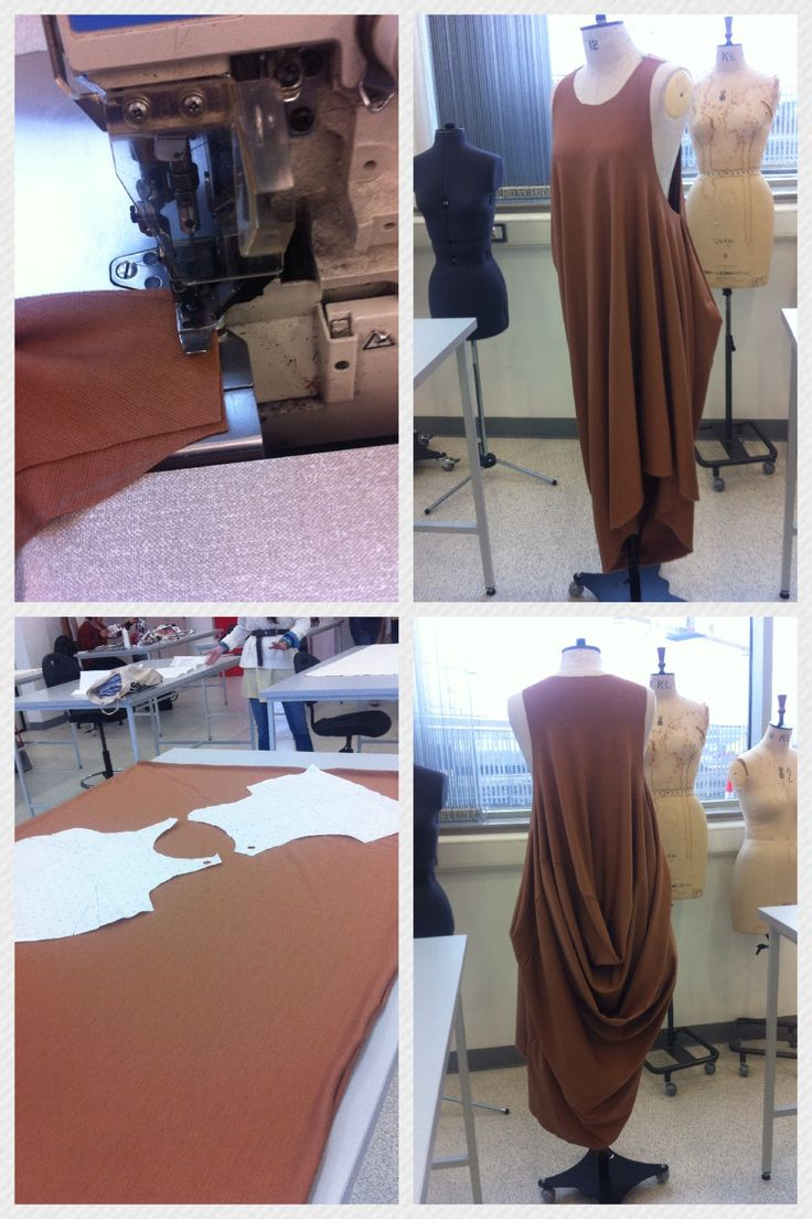 Dress made in 10 minutes using the subtraction pattern cutting method and inside out over locking.