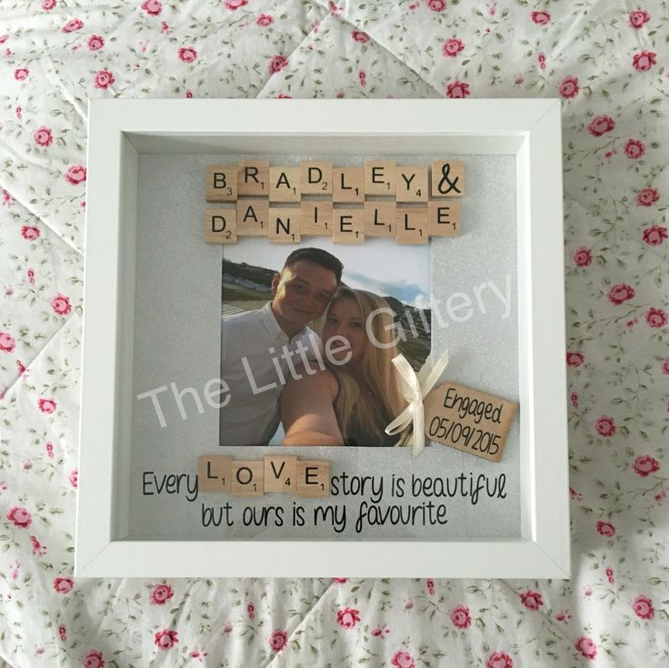 personalised engagement scrabble frame