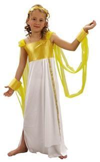 Yunan Tanrıçası Afrodit Kostümü, Lüks 7-9 Y