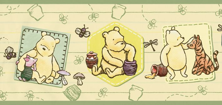 130 best Vintage Pooh Bear Nursery images on Pinterest | Baby room ...
