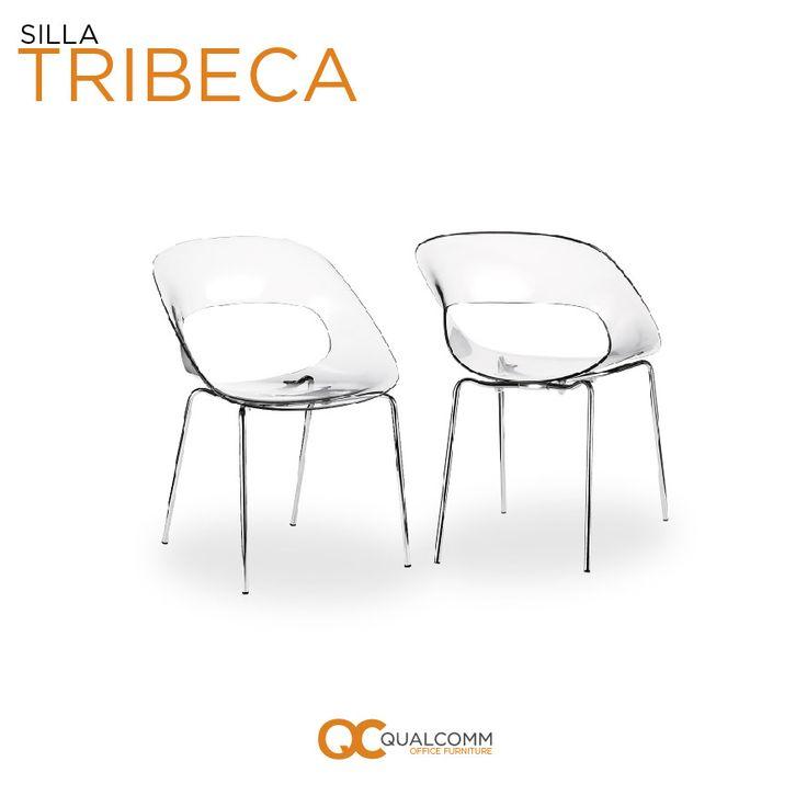 El futuro hace presencia en el diseño de nuestra silla Tribeca con una variedad de colores y una novedosa concha de policarbonato que agregan un toque vanguardista. #DiseñoInterior #InteriorDesign #GetOrange #QC #Office #Furniture #Tribeca #Chairs